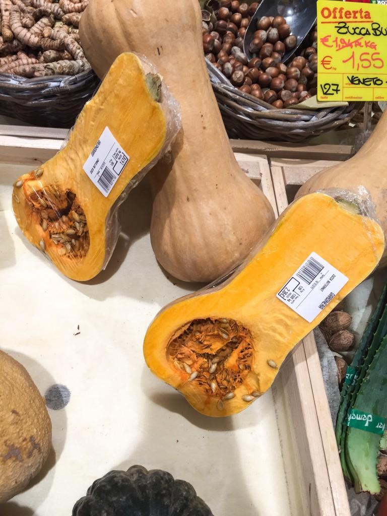 Zucche al supermercato NaturaSi di Castelletto Ticino