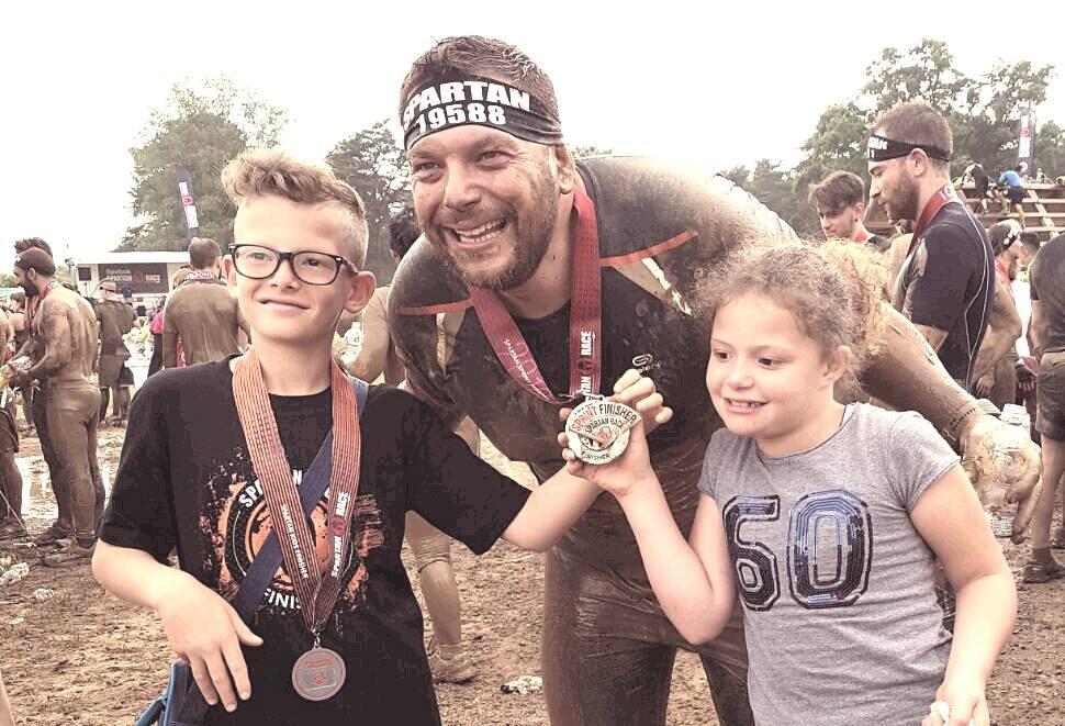 Mimmo Orlando, spartano Sprint e il nostro campione con la sorellina.