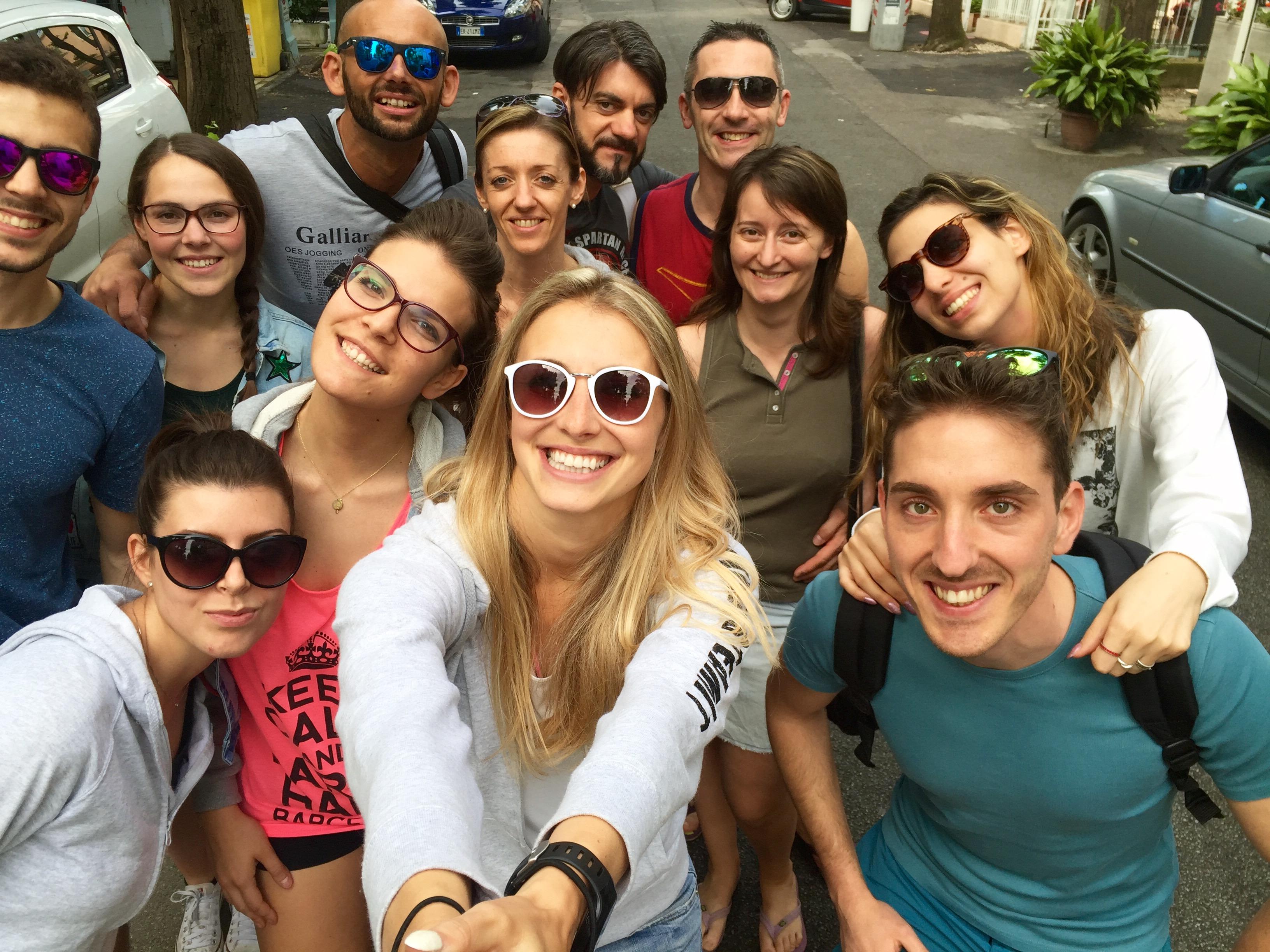 parte di InvictusTeam in partenza per Rimini