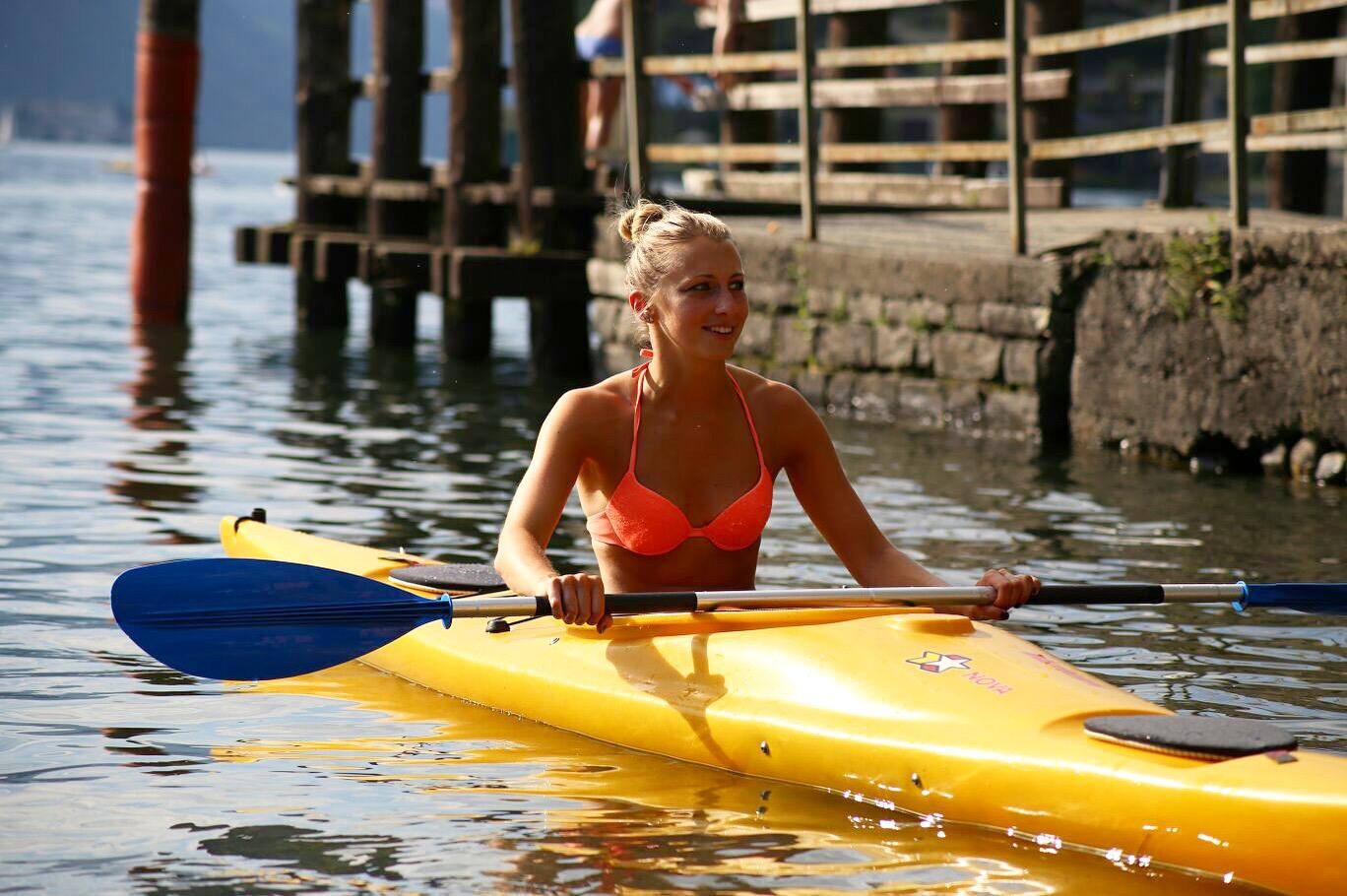 Canoa sul Lago Maggiore, grazie a Dario per la pazienza.